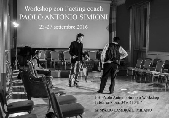 <p>Timing: 23-27 Sept 2016</p><p>Entries deadline: September 15 for the first time in Milan SUNEELA formation with the acting appointment coachPAOLO ANTONIO, a full immersion focusing on acting. The workshop is limited to allow participants a better efficaciadel work. By the date of registration. Who is Paul ANTONIO Acting coach, Italian actor and Director involved in the dissemination of a nuovametodologia for the actor in the tradition of Stanislavskij.Si form at the age of 15 years according to the teaching of Susan Batson (Actor's Studio), which follows in the footsteps and then refit them and create a more suitable allasensibilità of European actor. Paolo Antonio Simioni is a fitness trainer and pedagogue of internationally active between Italy, Hungary and Germany. worked with Tom Hanks, Ron Howard, Diarmuid Lawrence, Terence Hill, SergioCastellitto, Felicity Jones, Dorka Gryllus, Lena Lessing, Omero Antonutti, GabrieleVacis, Lucrezia De Domizio Durini, Marco Maria Tosolini ... and with Sony Pictures, BBC, Rai, Cinecittà, Spoleto Festival, and La Fenice in Venice Biennale ,</p><p>Palazzo delle Esposizioni in Rome, Mittelfest, Balassi Institute, and many others.</p><p>AS YOU DEVELOP THE SEMINAR</p><p>The seminar develops in a series of steps that allow you to build up and raffinaresempre its perception of emotion, and then enter the job 1528 cut short, which is the actual construction of the character, until the creation of a credible, authentic human being. The heart of the work is definitely the PRIVATE MOMENT of the character. Exercise to get in touch with the intimacy of the character that we have to face, made famous by Strasberg, who experienced it as eserciziocollettivo. He was later recovered by Susan Batson as individual exercise: a real scene created by the actor to go to delBISOGNO. the objective of the exposure route is to lead the actor to a character's psychology, its understanding profondadella intimacy and understanding of how sievolve therefore the relationship of his character with the outside world and theterm'activity ' with the other characters in the drama. The work on the technical character is the target, but also an opportunity to identify the blocks presentinell residues ' actor and to overcome them gradually through exercises that, throughout the workshopdiventano more and more specific and customized.</p><p>Availability of seats even as listeners.</p><p>http://www.paoloantoniosimioni.com/</p><p>For inscription: write to workshop.euact@gmail.com or fill out form direttamenteil https://goo.gl/39joa4PER INFO and costs: contact Elena + 39 3476410417</p><p>If you find busy send sms/whatsapp with your name and number to be recalled.</p>